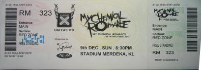 MCR Ticket Red Zone