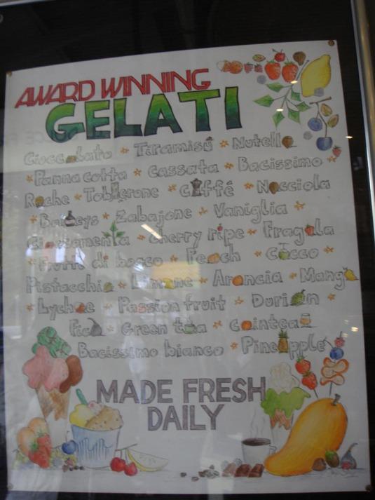 Famous Gelato in Melbourne